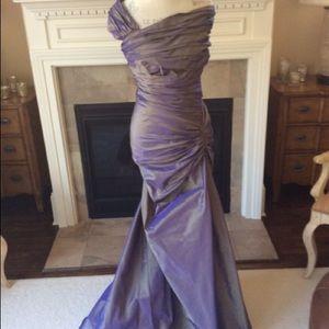 Tadashi iridescent gown